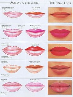 set of vector lips shapes set of illustrations with captions