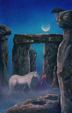 The Art of Cathy McClelland  stonehenge, crow and a horse occupy my dreams.