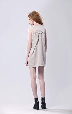 Sleeveless Dress With Pleated Back. $132,00, via Etsy.