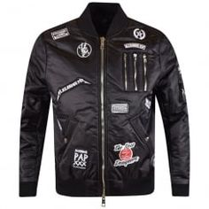 The New Designers Black Patch MA1 Bomber Jacket. Available now at www.brother2brother.co.uk