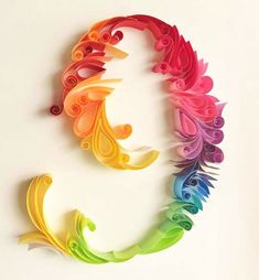 Quilling by Sabeena Karnik, beautiful rainbow of colors!
