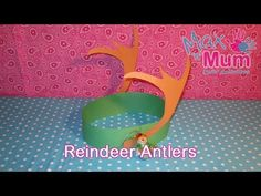 Kids' Christmas Craft - How to Make Paper Reindeer Antlers