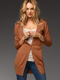 Love long the long cardi and this color