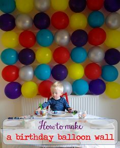 How to make a birthday balloon wall | Make a Long Story Short