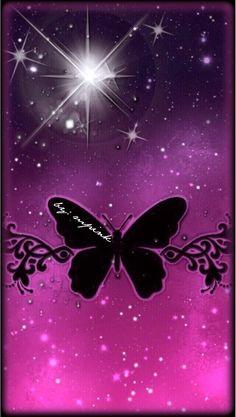 Pink Glitter Colorful Butterfly iPhone Wallpaper | Color ... Pink Glitter Butterfly Wallpaper