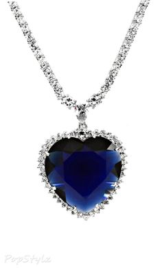 Titanic Necklace - Inspired by Heart of the Ocean I love it!! I have a cheap replica.