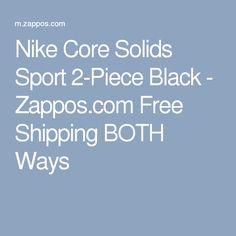7906ca118d0e8 Nike Core Solids Sport 2-Piece Black - Zappos.com Free Shipping BOTH Ways