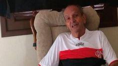 Internado após queda na Libertadores torcedor de 92 anos não abandona o Fla