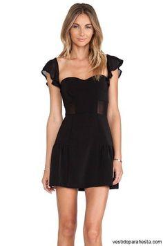 Vestidos cortos de coctel color negro 2015 - https://vestidoparafiesta.com/vestidos-cortos-de-coctel-color-negro-2015/