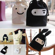 New-Adorable-Ninja-Rabbit-Pouch-Travel-Lunch-Laundry-Bag-Storage-Drawstring