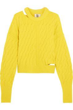 Topshop Unique | Distressed cable-knit sweater | NET-A-PORTER.COM