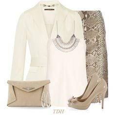 Nude for the Office by talvadh on Polyvore featuring moda, The Row, Gucci, Tory Burch, White House Black Market, Toi Et Moi, Lucky Brand and Brooks Brothers