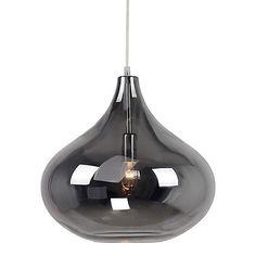 Home Collection Claire Silver Glass Pendant Light | Debenhams