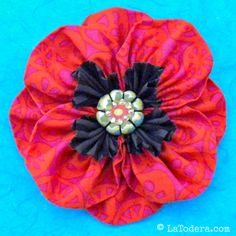 Proud Poppy Brooch Pattern by La Todera Sewing and Craft Patterns  www.latodera.com