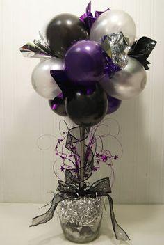 Balloon Topiary - Balloons, New Years Eve, Party, Topiary Balloon Topiary, Balloon Centerpieces, Balloon Decorations, Topiary Centerpieces, Balloon Flowers, Centrepieces, Balloon Arch, Masquerade Party Centerpieces, Topiary Decor