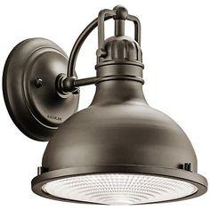 "Hatteras Bay 9 1/2"" High Bronze LED Outdoor Wall Light - #5T452 | LampsPlus.com"