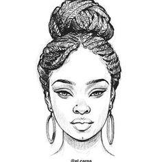 queen tattoo for women african * queen tattoo for women + queen tattoo for women african + queen tattoo for women beautiful + queen tattoo for women small + queen tattoo for women on hand + queen tattoo for women arm + queen tattoo for women wrist Girl Drawing Sketches, Pencil Art Drawings, Drawing Faces, Black Love Art, Black Girl Art, Art Girl, How To Draw Braids, How To Draw Afro Hair, Black Art Pictures