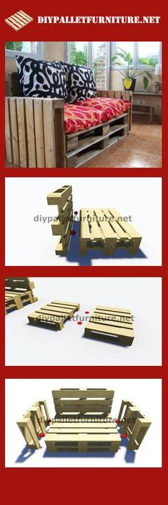 Step by Step instructions and plans of how to make a sofa with pallets easily