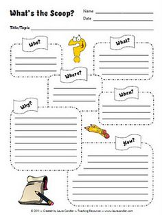 What's the Scoop graphic organizer for nonfiction