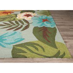 outdoor rug   JaipurLiving Coastal Lagoon Green/Gray Indoor/Outdoor Area Rug ...
