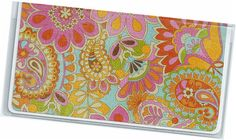 Checkbook Cover  KL Colorful Floral Paisley on by rabbitholeonline, $6.25