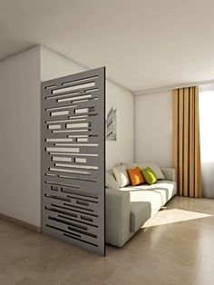 Grey room divider or claustra gris Room, Small Space Interior Design, Home Decor, Living Room Interior, House Interior, Living Room Partition Design, Interior Design Living Room, Interior Design, Room Divider Walls
