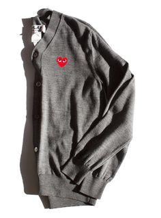 0998543f7df984 PLAY Comme Des Garçons grey cardigan   Garance Doré Grey Fashion