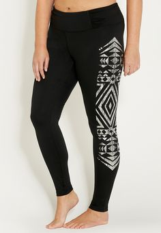 14fd0feb57 plus size legging with metallic graphic side Winter Wonderland Outfit