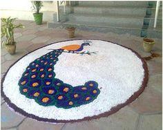 9 Best Peacock Rangoli Designs: