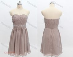 Brown bridesmaid dress  short party dress / junior by KissyBride, $85.00