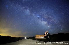 Astro photography engagement photos by Rober Paetz