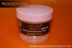 Lacura Beauty nail varnish remover pads    http://thefashionpersonal.blogspot.com/2013/02/product-love-lacura-beauty-nail-varnish.html