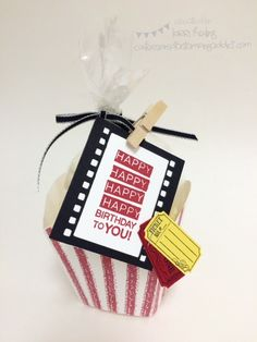 Popcorn Box :: Confessions of a Stamping Addict Lorri Heiling French Fry Box