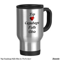 Yep Cuyahoga Falls Ohio 15 Oz Stainless Steel Travel Mug