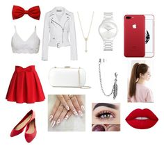 """""""Arina Grande Theme"""" by marianaduran260 on Polyvore featuring Chicwish, Bling Jewelry, Wet Seal, EF Collection, Rado, Calvin Klein Jeans and Sergio Rossi"""