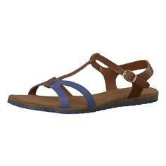 Die s.Oliver Sandaletten besitzen eine angenehm zu tragende Lederoberfläche. Dank des Schnallenverschlusses mit Dornschließe lässt sich das Modell individuell in der Weite regulieren.   - dekorative Riemen auf dem Spann - mit applizierten Nieten - Laufsohle mit leichtem Profil - Absatzart: Flach - Schuhspitze: Offen - Verschluss: Schnalle  Obermaterial: Leder Futter: Sonstiges Material  Decksoh...