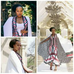 African Wedding Attire, African Attire, Traditional Wedding Dresses, Traditional Outfits, Xhosa Attire, Traditional African Clothing, African Wear Dresses, African Print Fashion, Lilac Nails