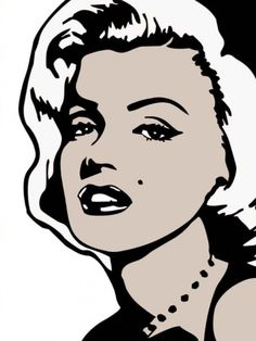 Famous Faces Marilyn Monroe Wall Decals
