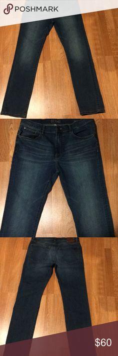 DL1961 Nick Slim Men's Premium Denim 36 Blue Authentic DL  American Cotton  36x34 Factory Soft Faded 5 pocket  Zip Front W/ 1 button closure DL1961 Jeans Slim