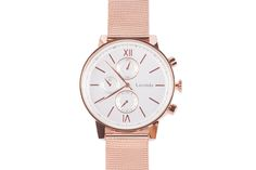 Rose gold big dial watch from LUNA PYXIS