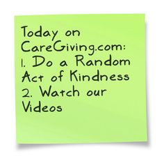 Today on CareGiving.com:  1. Do a Random Act of Kindness in honor of the donor and donor's family who gave Mackenzie her heart and then tell us about it; join our Random Acts of Kindness Group for Mackenzie group: www.caregiving.com/groups/random-acts-of-kindess-for-mackenzie/  2. Watch our videos: www.caregiving.com/articles/videos-2/