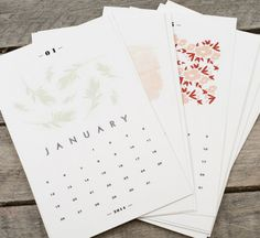 10 Calendarios 2014 {GRATIS} para Imprimir