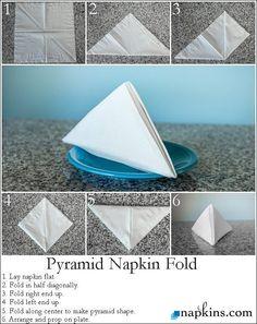 How to: Pyramid Napkin Fold