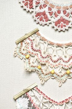 Embellished Lace Necklaces by Amy Lawrence, via Behance