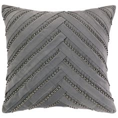 Nanette Lepore Villa Pleat Grey Pillow @Zinc_Door
