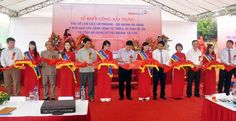 Nhà bạt tại Lễ khởi công xây Trụ sở làm việc Vietinbank-CN Hà Giang