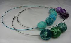 Felt & Silk Bead Necklaces | Flickr - Photo Sharing!