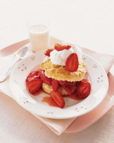 Martha's Favorite Recipes for Spring // Strawberry Shortcake Recipe, June 14th is National Strawberry Shortcake Day!
