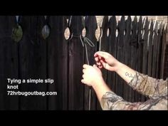 How to tie a slipknot in a survival situation. I use 550 para cord in this demonstration. The importance of 550 cord in your bug out bag is in my post http://72hrbugoutbag.com/550-cord-bug-out-bag/