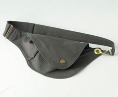Belt Bag in Slate Blue Cotton : Fanny Pack, Hip Bag.   This is an interesting style.  I want to try to see if I could come up with a similar pattern of my own.  I love to use these when going to the outdoor markets in the summer.